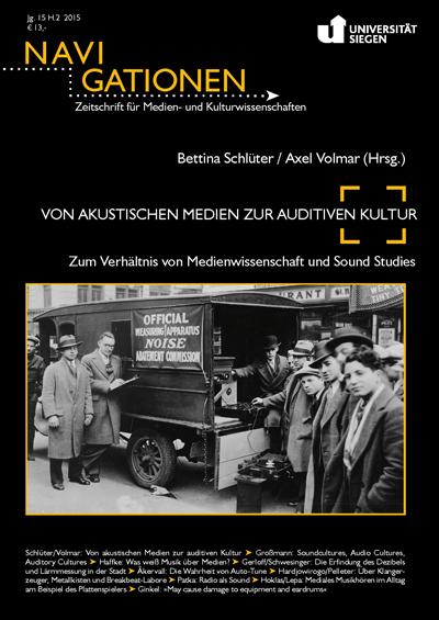 Schlüter/Volmar: Von akustischen Medien zur auditiven Kultur